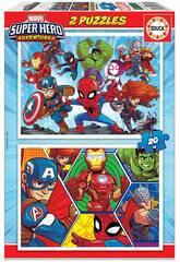 Puzzle 2x20 Marvel Super-héros Adventures Educa 18648