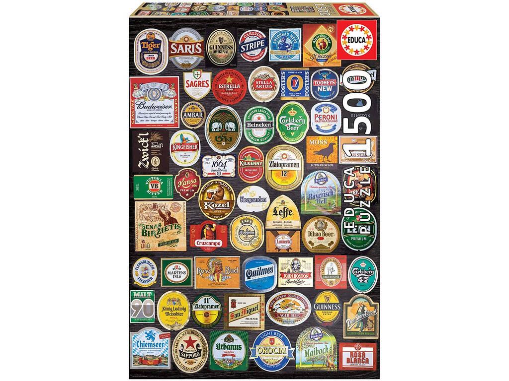 Puzzle 1500 Etiquetas de Cerveza Educa 18463