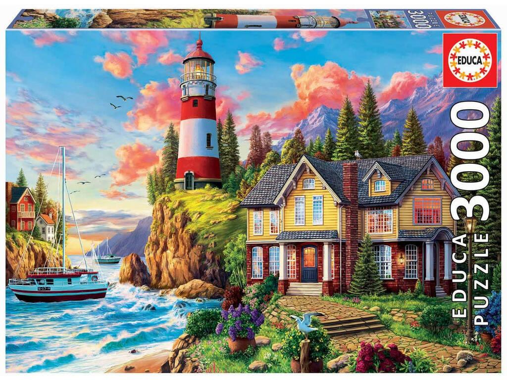 Puzzle 3000 Faro Cerca del Océano Educa 18507