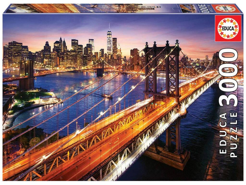 Puzzle 3.000 Manhattan Au Couché de Soleil Educa 18508