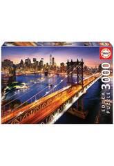 Puzzle 3.000 Manhattan Ao pôr-do-sol Educa 18508