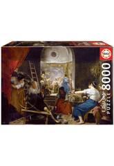 Puzzle 8000 Las Hilanderas, Velázquez Educa 18584