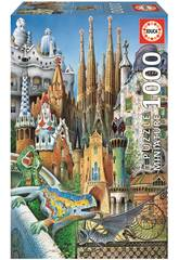 Puzzle 1000 Gaudí, Collage