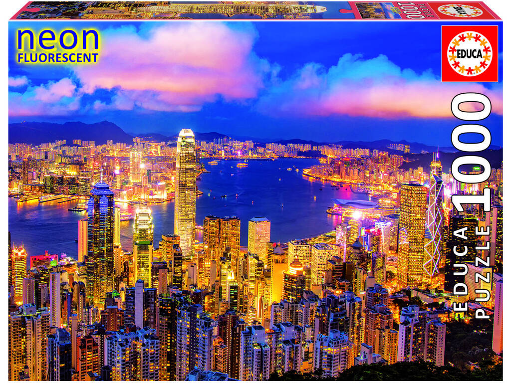 Puzzle 1000 Hong Kong Neón Educa 18462