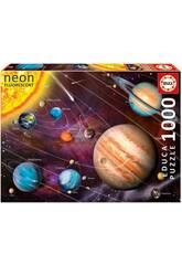 Puzzle 1000 Sistema Solar Neón Educa 14461