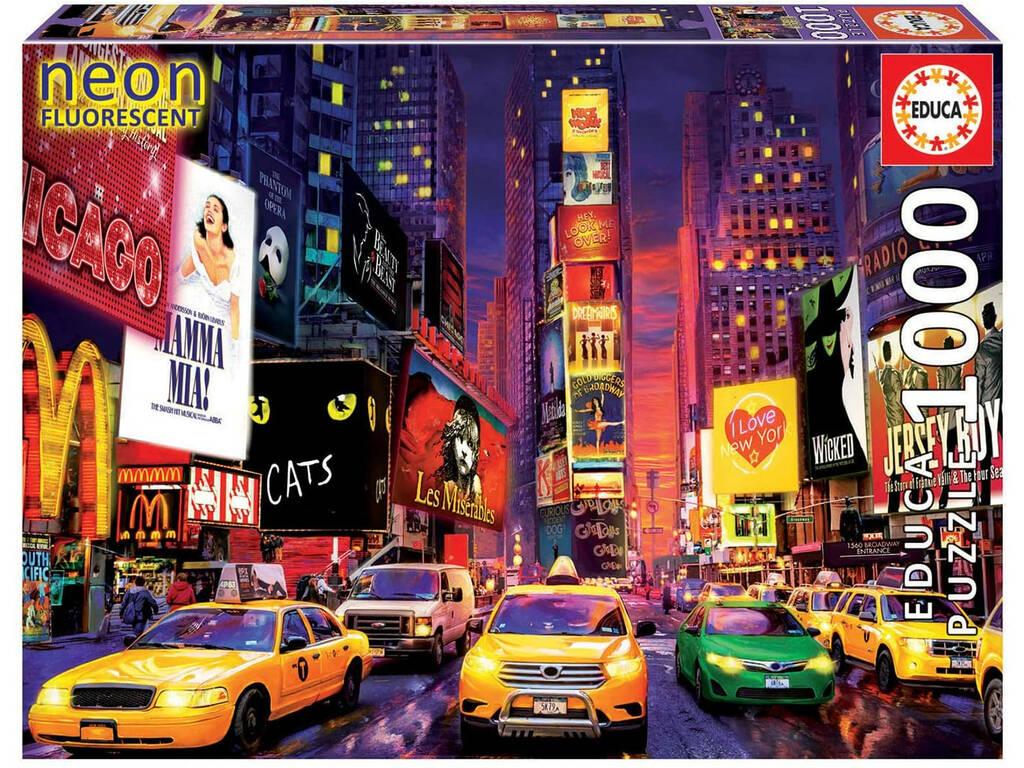 Puzzle 1000 Times Square, Nueva York Neón Educa 18499