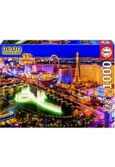 Puzzle 1000 Las Vegas Neón Educa 16761