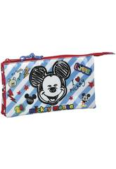 Porte-tout Triple Mickey Mouse Safta 811914744