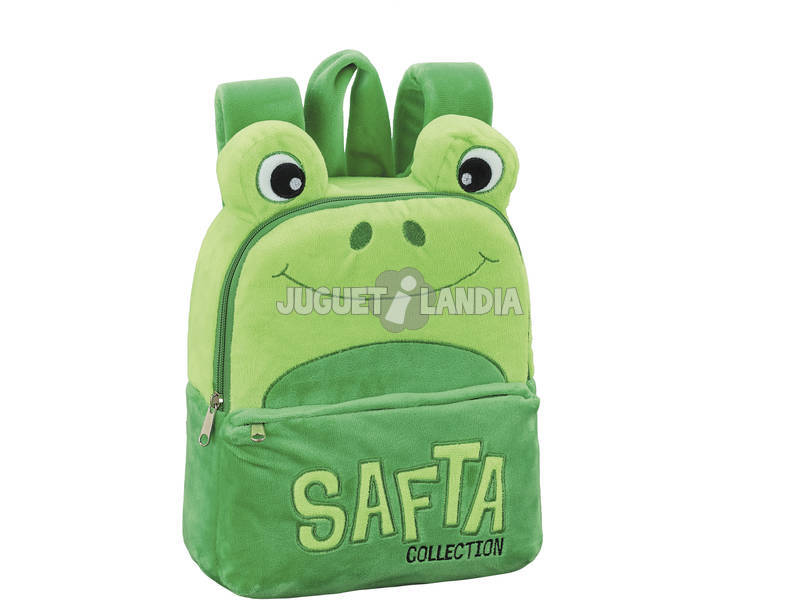 Mochila Infantil Peluche Rana Safta 641953232
