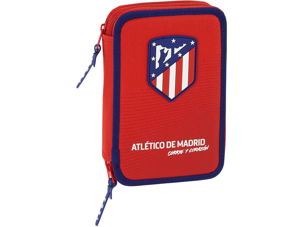 Plumier Doble 34 Piezas Atlético de Madrid Safta 411858054