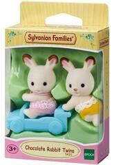 Sylvanian Families Gemelos Conejo Chocolate Epoch Para Imaginar 5420