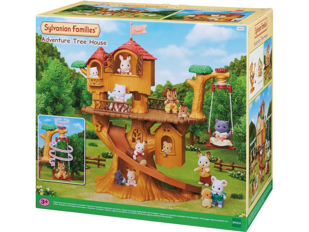 Sylvanian Families La Casa del Árbol de las Aventuras Epoch Para Imaginar 5450