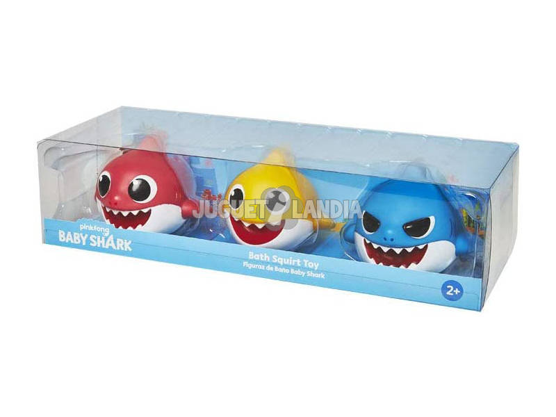 Baby Shark 3 Figuras de Baño Bandai SS01100