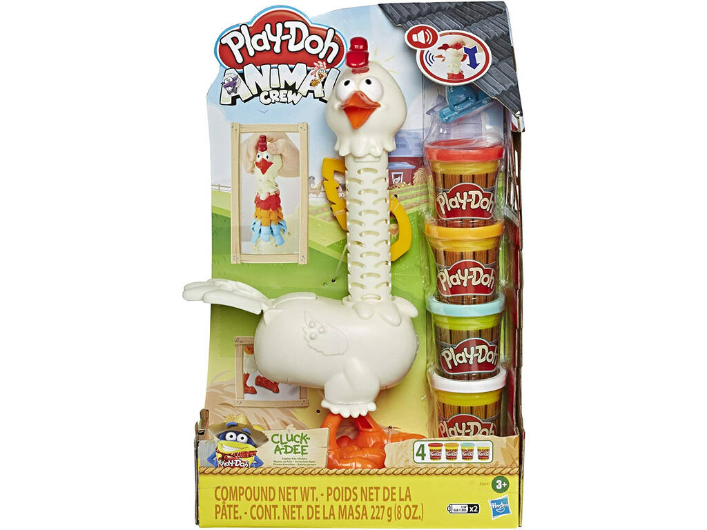 Play Doh Gallina Plumas Divertidas Hasbro E6647