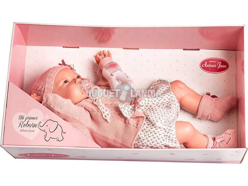 Muñeca Mi Primer Reborn Alejandra Biberón Antonio Juan 8166