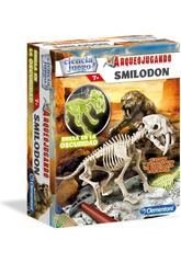 Arqueojugando Smilodon Fosforescente Clementoni 55034