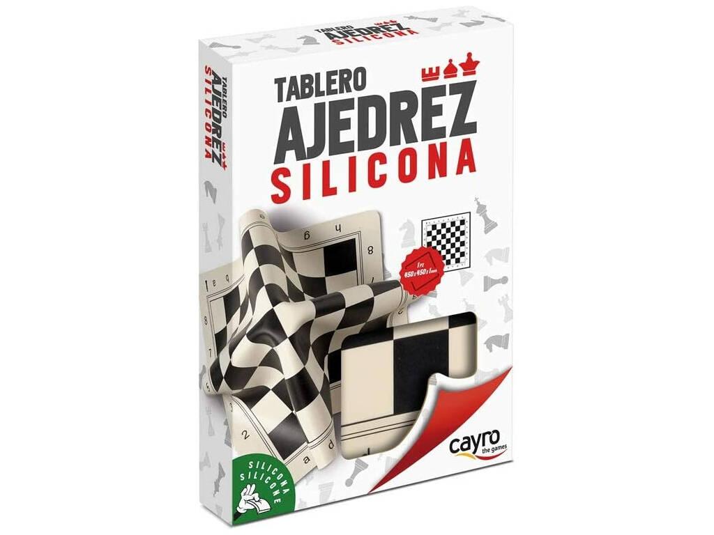 Tablero Ajedrez Profesional Silicona 40x40 cm. Cayro 099