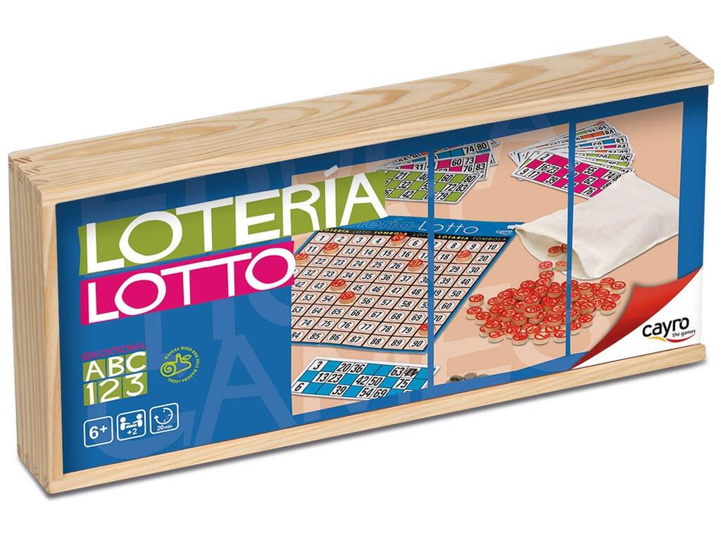 Bingo Lotería 48 Cartones Caja Madera Cayro 749