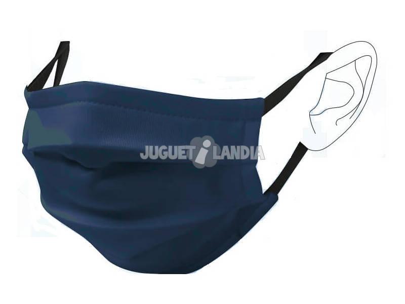 Mascarilla Higiénica Reutilizable Lisa Azul Marino T-L Adulto
