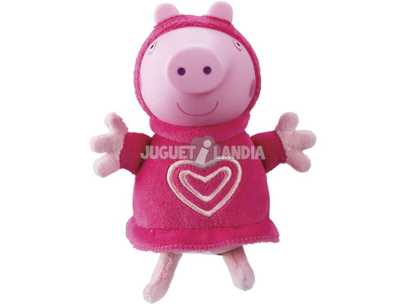Peppa Pig Peluche avec Lumière Pyjama Rose Bandai 6916
