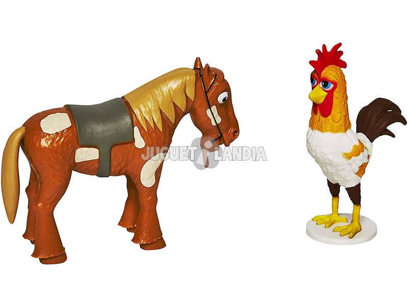 La Granja De Zenón Pack 2 Figuras Gallo Bartolito y Caballo Percherón Bandai 82002