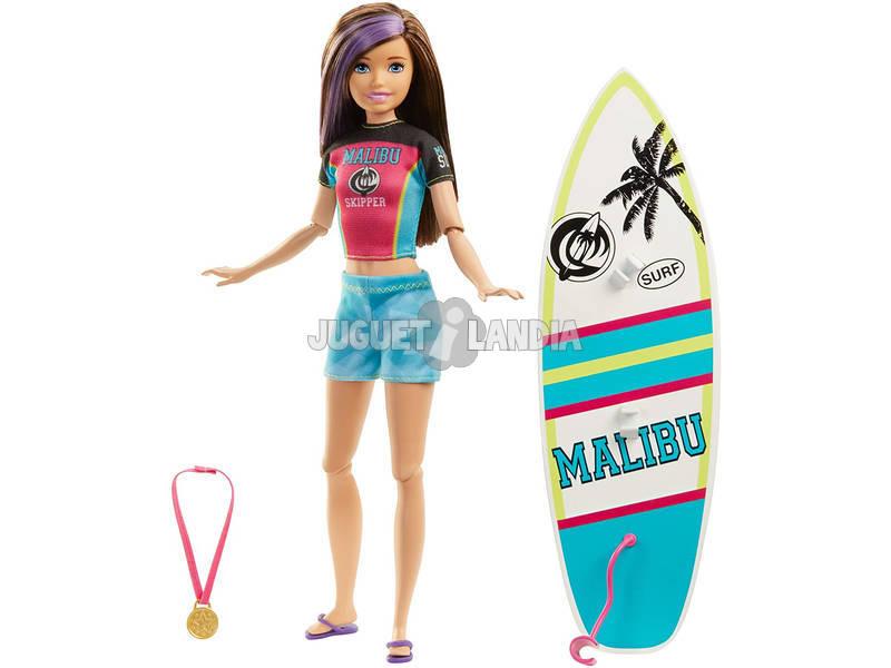 Barbie Hermana Deportista Surf Mattel GHK36