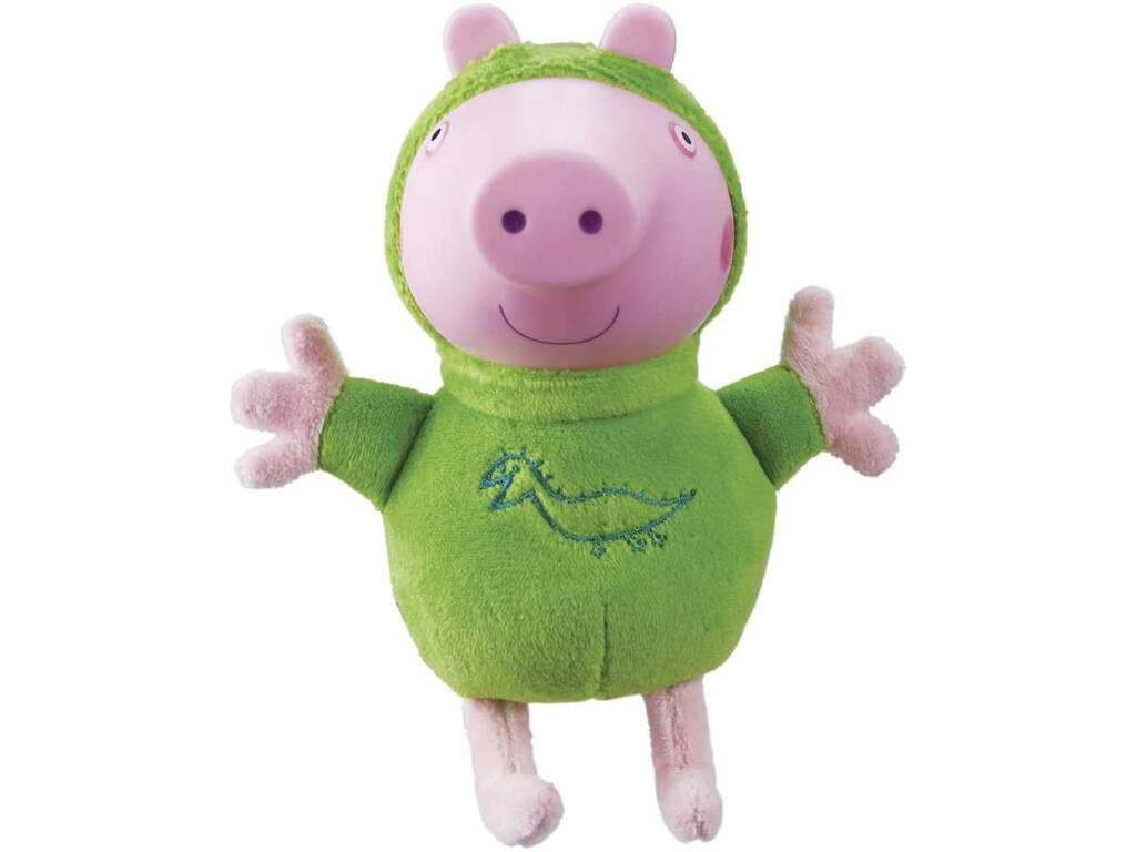 Peppa Pig Peluche George avec Lumière Pyjama Vert Bandai 6917