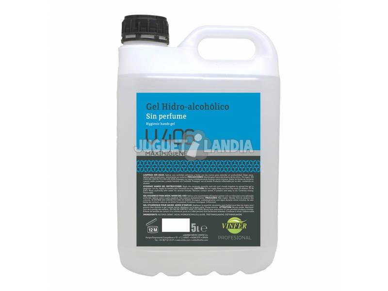 Gel Hydroalcoolique Sans Parfum V406 5 l. Vinfer H301G05029