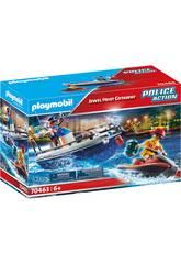 Playmobil Patrulla Policía Guardacostas y Ladrón en Moto de Agua 70463
