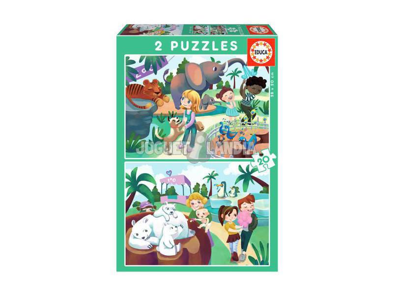 Puzzle 2X20 En el Zoo Educa 18603