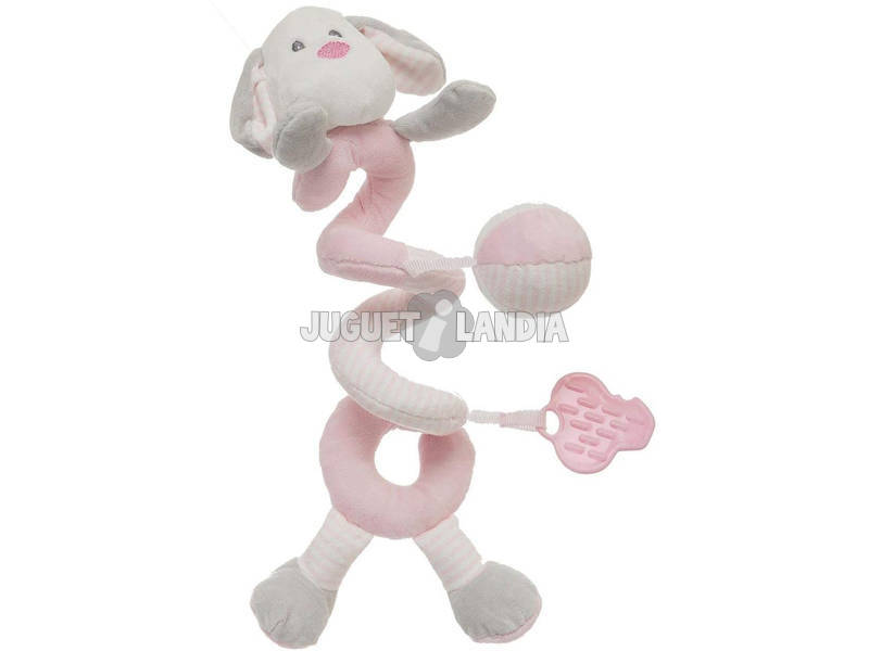 Perro Pink Espiral 25 cm. Creaciones Llopis 25505
