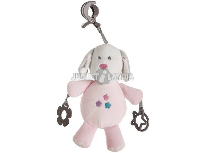 Perro Pink Pinza Actividades 21 cm. Creaciones Llopis 25510