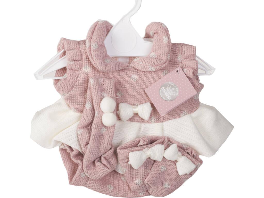 Vestido Muñeca Recién Nacida 42 cm. Crema y Rosa Berbesa T5109
