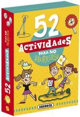 Jeux de cartes Activités 52 Activités pour ne pas s'ennuyer Susaeta S3440002