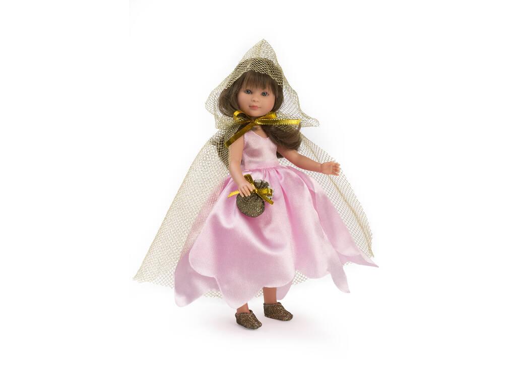 Muñeca Celia 30 cm. Hada Rosa con Capa Dorada Asivil 0169950