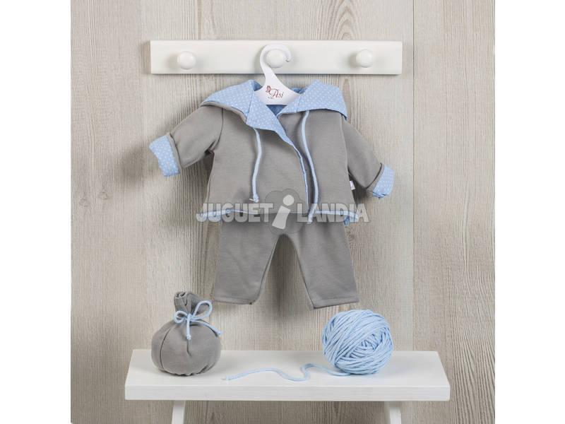 Vestido Muñeca 46 cm. Chaquetón Reversible Gris/Celeste Asivil 3184081
