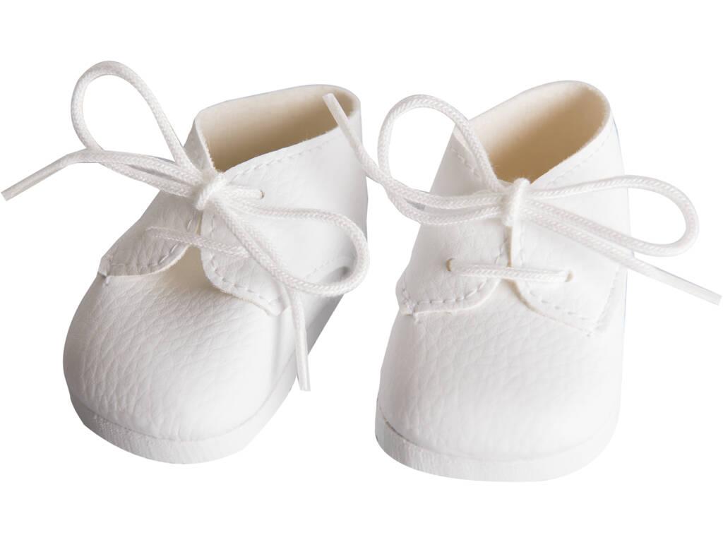 Zapatos Blancos con Cordones Muñeca 43-46 cm. Asivil 5361601