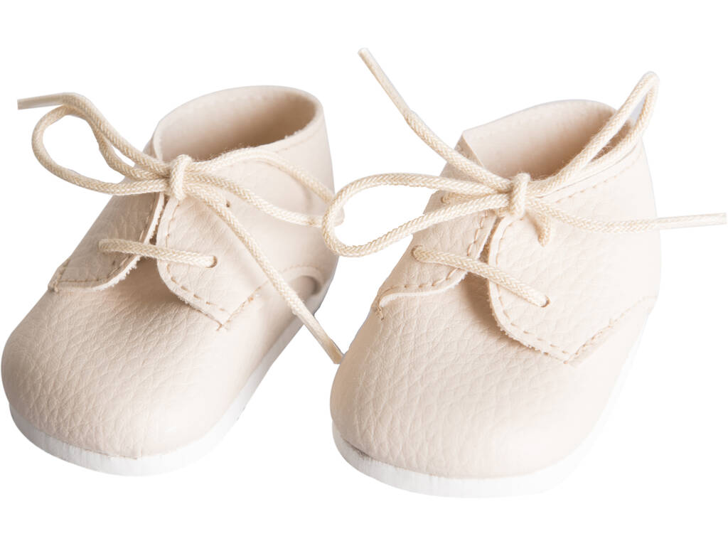 Zapatos Beige con Cordones Muñeca 43-46 cm. Asivil 5361602