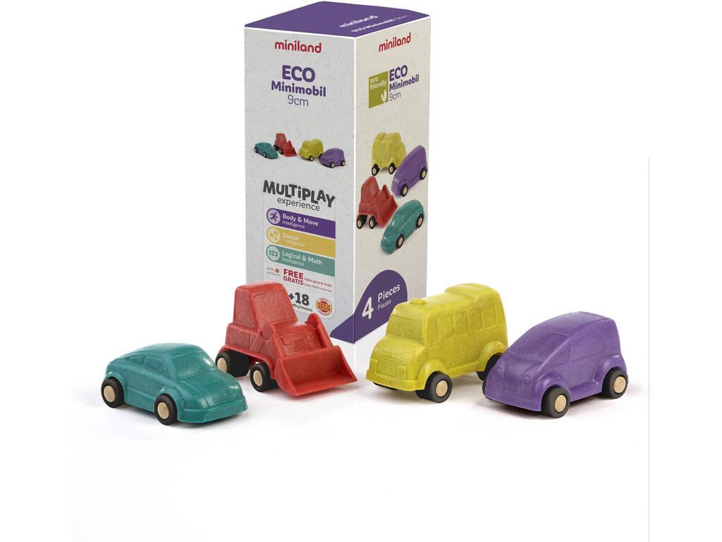 Set Eco Mini 4 Vehículos 9 cm. Miniland 32153