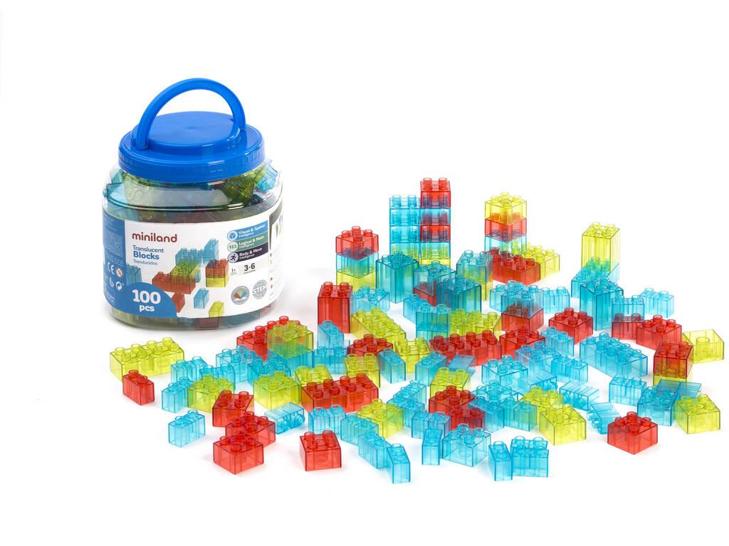 Translucent Blocks 100 Piezas Miniland 32162