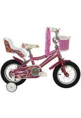 Bicicleta 12 Lydia con Cesta y Portamuñecas Umit J1261