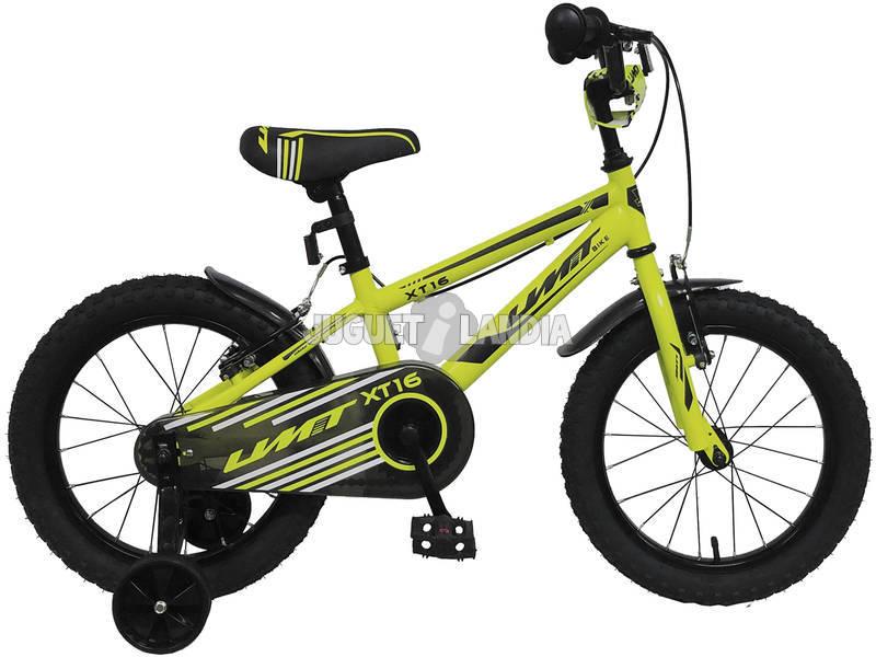 Bicicleta de 16 XT16 Amarilla Umit 1670-10