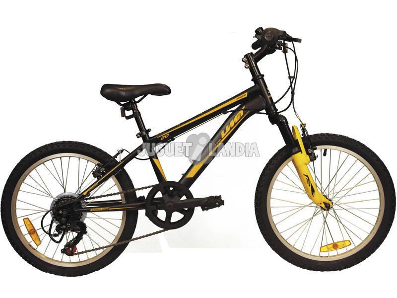 Bicicleta XR-200 Negra y Naranja con Cambio Shimano 6v y Suspension Delantera Umit 2070CS-76