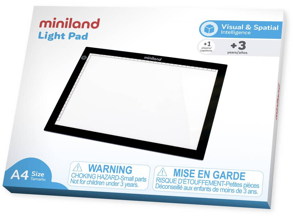 Light Pad Pizarra LED Tamaño A4 Miniland 95100