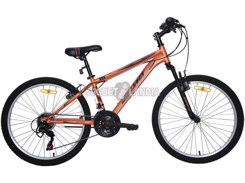 Bicicleta XR-240 Naranja con Cambio Shimano 18v y Suspension Delantera Umit 2470CS-6