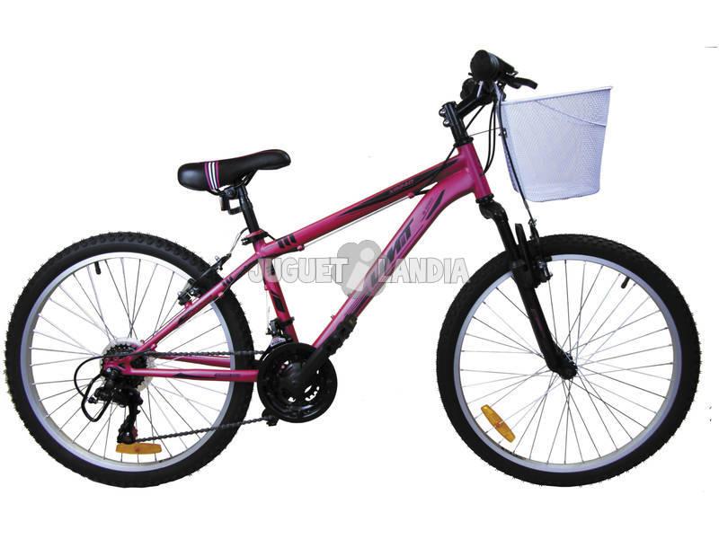 Bicicleta XR-240 Rosa con Cambio Shimano 18v y Cesta Umit 2471CS-3