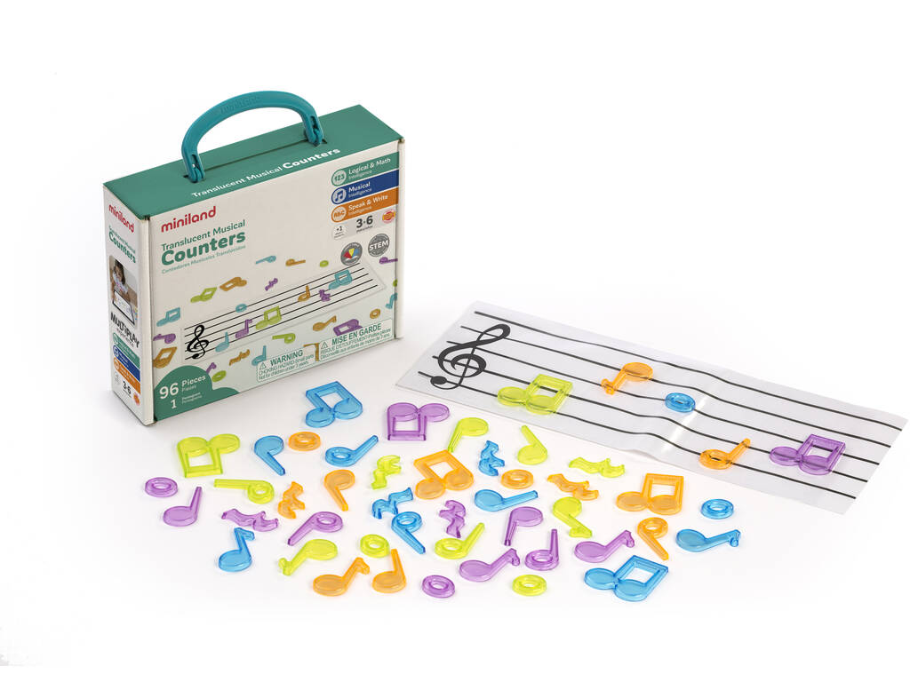 Juego Musical Notas Translúcidas Miniland 97901