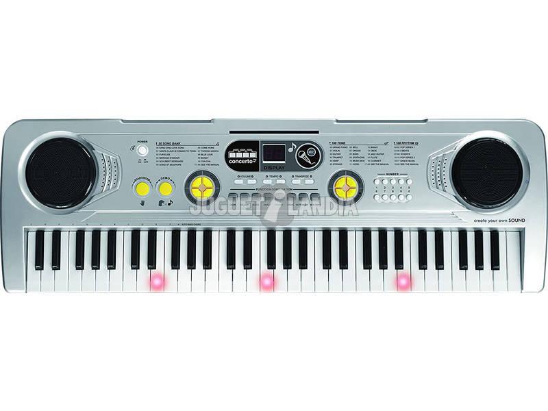 Órgano 61 Teclas Con Micro, Toma Usb y Función Profesor Reig 8924