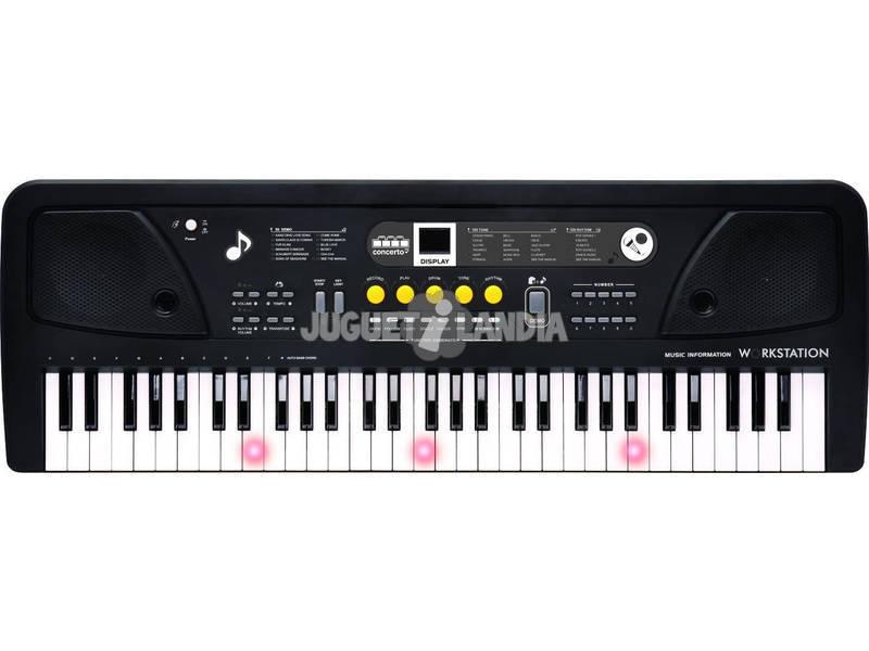Órgano 61 Teclas Con Micro, Toma Usb y Función Profesor Reig 8925