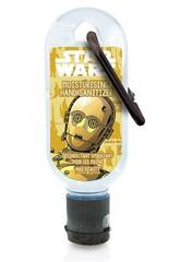 Gel Hidroalcoólico 30 ml. Clip Disney Star Wars C3PO
